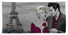 Paris Sunset Beach Towel by Chris Consani
