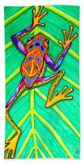 Peace Frog Beach Towel by Nick Gustafson