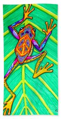 Peace Frog Beach Sheet