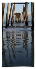Pier Reflections Beach Towel