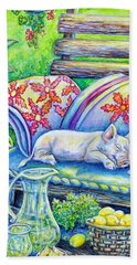 Pig On A Porch Beach Towel