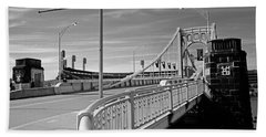 Pittsburgh - Roberto Clemente Bridge Beach Towel