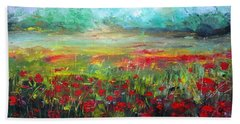 Poppy Fields Beach Sheet