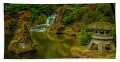 Beach Towel featuring the photograph Portland Japanese Gardens by Jacqui Boonstra