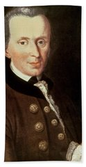 Portrait Of Emmanuel Kant Beach Towel