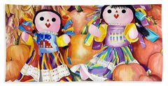 Pumpkin Patch Party Beach Towel