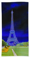 Purple Eiffel Beach Towel