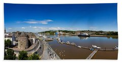 Quayside, Reginalds Tower, River Suir Beach Towel