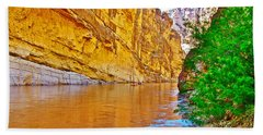 Rafting In Santa Elena Canyon In Big Bend National Park-texas Beach Sheet
