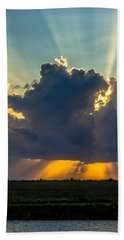 Rays From The Clouds Beach Towel