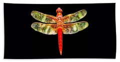 Red Dragonfly Small Beach Towel