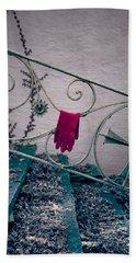 Red Glove Beach Towel