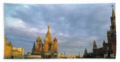 Red Square Moscow Russia Beach Towel