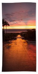 Sunset After Rain Beach Towel