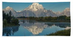 Reflections Of Mount Moran Beach Sheet