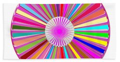Colorful Signature Art Chakra Round Mandala By Navinjoshi At Fineartamerica.com Rare Fineart Images  Beach Towel by Navin Joshi
