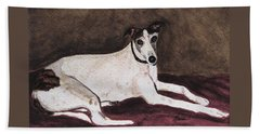 Beach Towel featuring the painting Resting Gracefully by Angela Davies