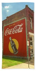 Route 66 - Coca Cola Ghost Mural Beach Sheet by Frank Romeo