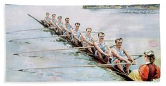 Rowing, C1900 Beach Towel