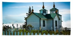 Russian Orthodox Church Beach Sheet by Andrew Matwijec