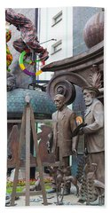 Russian Super-artist Sculptures, Zurab Beach Towel by Panoramic Images