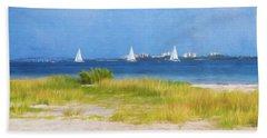 Sailing The Ocean Blue Beach Towel