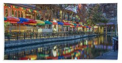 San Antonio Riverwalk Beach Towel