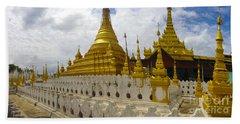 Beach Towel featuring the photograph Sandamuni Pagoda Mandalay Burma by Ralph A  Ledergerber-Photography