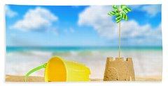 Sandcastle On The Beach Beach Towel