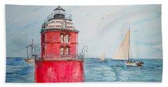 Sandy Point Lighthouse  Beach Towel
