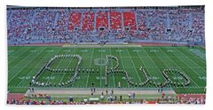 27w115 Script Ohio In Osu Stadium Beach Sheet