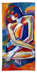 Seated Figure Beach Sheet