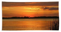 Setting Sun In Mount Dora Beach Sheet