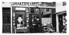 Shakespeare And Company Bookstore In Paris France Beach Towel