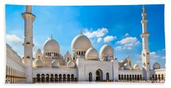 Sheikh Zayed Mosque - Abu Dhabi - Uae Beach Towel