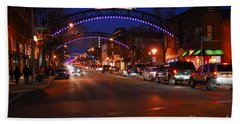 D8l353 Short North Arts District In Columbus Ohio Photo Beach Towel