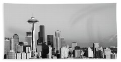 Skyline, Seattle, Washington State, Usa Beach Towel by Panoramic Images
