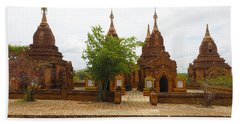 Beach Sheet featuring the photograph Smaller Temples Next To Dhammayazika Pagoda Built In 1196 By King Narapatisithu Bagan Burma by Ralph A  Ledergerber-Photography