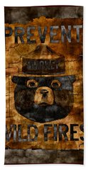 Smokey The Bear Only You Can Prevent Wild Fires Beach Towel
