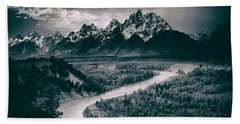 Snake River In The Tetons - 1930s Beach Sheet
