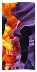 Beach Sheet featuring the photograph Somewhere In America Series - Antelope Canyon by Lilia D