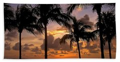 South Florida Sunset Beach Sheet by Carol  Bradley
