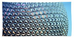 Beach Towel featuring the photograph Spaceship Earth by Cora Wandel