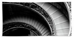 Spiral Staircase, Vatican Museum, Rome Beach Towel