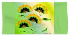 Spring Flowers Beach Sheet