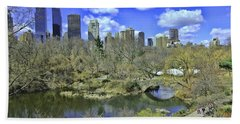 Springtime In Central Park Beach Sheet by Allen Beatty