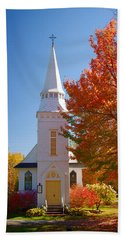 St Matthew's In Autumn Splendor Beach Sheet