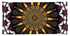 Beach Towel featuring the photograph Stained Glass Kaleidoscope 1 by Rose Santuci-Sofranko