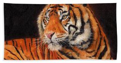 Sumatran Tiger  Beach Towel by David Stribbling