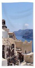 Sunny Santorini Beach Sheet